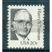 1862 20c Truman Fine MNH