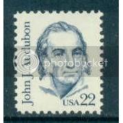 1863 22c Audubon Fine MNH Dry Gum