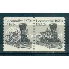 1897A 2c Locomotive Fine MNH Dry Gum Pair