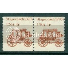1898A 4c Stagecoach Fine MNH Dry Gum Pair