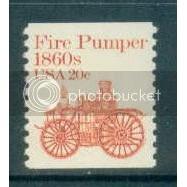 1908 20c Fire Pumper Fine MNH Dry Gum