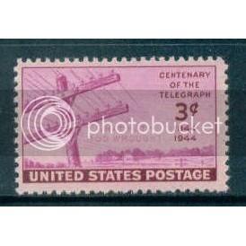 924 3c Telegraph Fine MNH