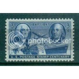 947 3c Stamp Centenary Fine MNH Plt/4 LL 23596 Plt05741