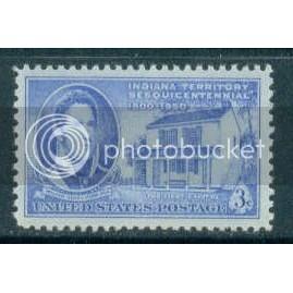 996 3c Indiana Territory Fine MNH Plt/4 LR 24236 Plt09951