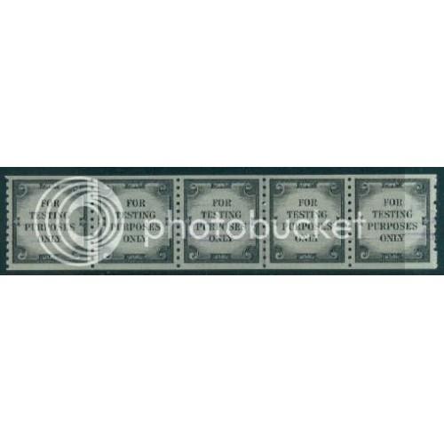 TD107 Very Fine MNH CL Strip of 5 Violet Lines A02371