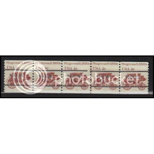 1898Ab Fine MNH Dry Gum PNC 5/5 Line Gap AA0037