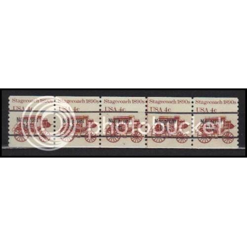 1898Ab Fine MNH Dry Gum PNC 5/5 Line Gap AA0046