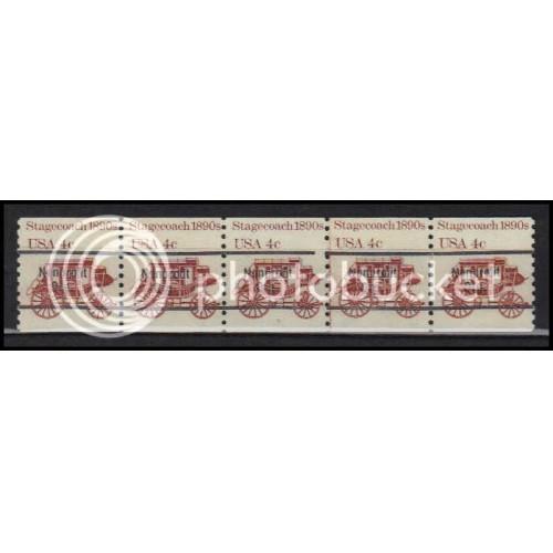 1898Ab Fine MNH Dry Gum PNC 5/5 Line Gap AA0053