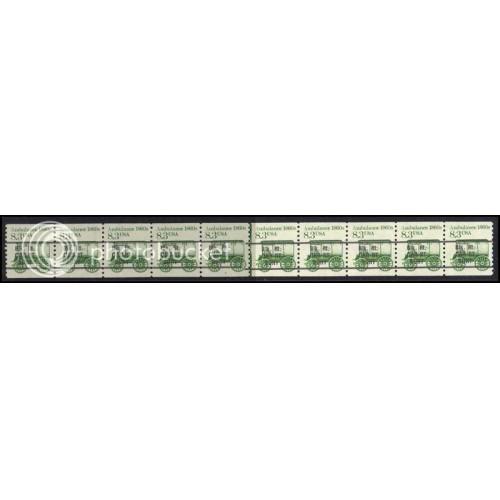 2128a Fine MNH Dry Gum PNC 2/10 Line Gap AAL0756