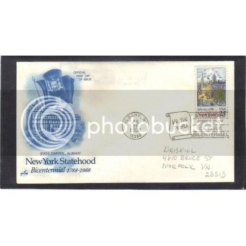 Art Craft 2346 25c New York FDC (Cachet-Penciled Address) CV0016
