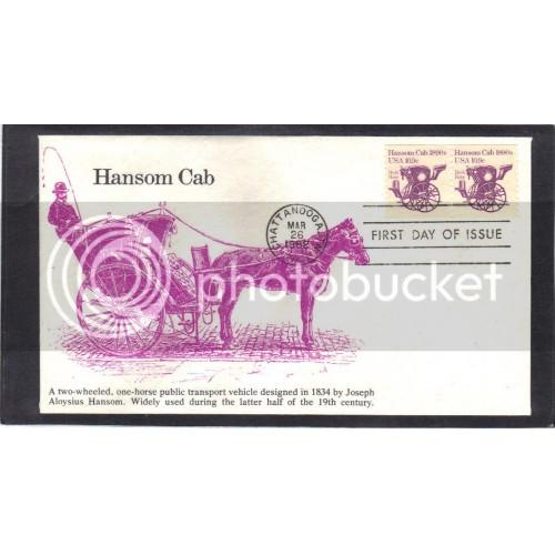 KMC Venture 1904 10.9c Hansom Cab Pair FDC (Cachet-U/A) CV0175
