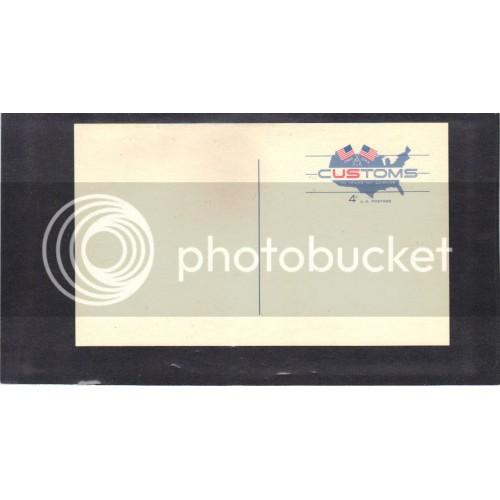 Postcard UX50 4c Customs Mint PreCnx CV0452