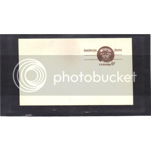 Postcard UX58 6c Paul Revere Mint PreCnx CV0487