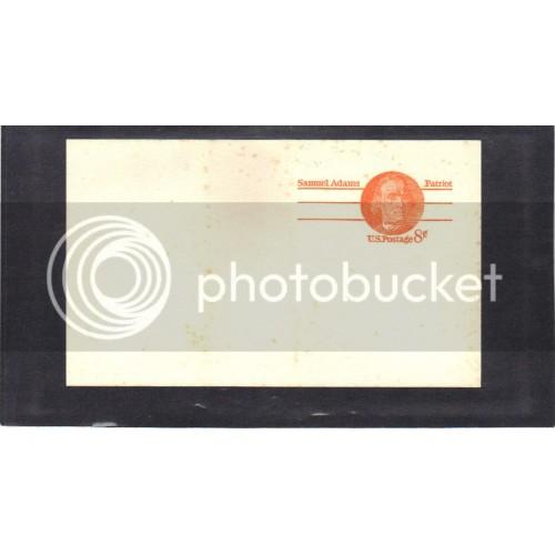 Postcard UX66 8c Samuel Adams Mint PreCnx CV0503