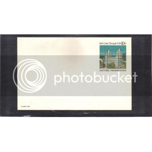Postcard UX83 10c Salt Lake Temple Mint CV0548