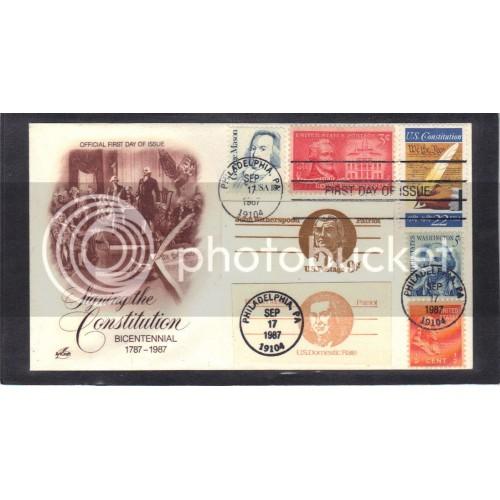 Art Craft 2360 22c Constitution + Multiple Stamps FDC (Cachet-U/A) CV0798
