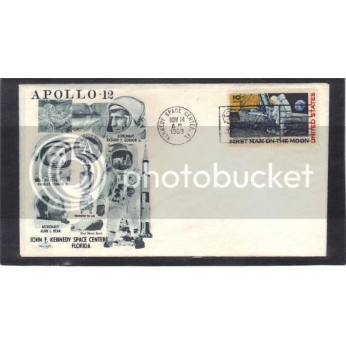 Event Orbit Covers Apollo 12 C76 10c Moon Landing (Cachet-U/A) CV0961