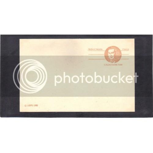 Postcard UX92 13c Robert Morris Mint PreCnx CV1337
