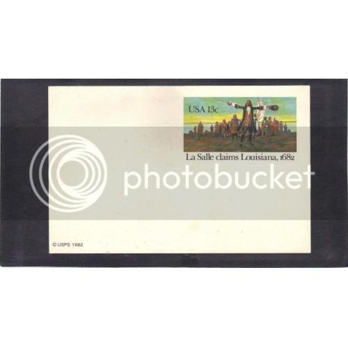Postcard UX113 13c La Salle Mint CV1343