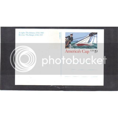 Postcard UX163 19c American's Cup Mint CV1344