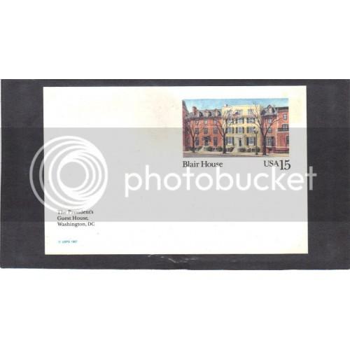 Postcard UX121 15c Blair House Mint CV1374
