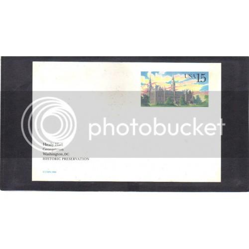 Postcard UX128 15c Healy Hall Mint CV1393