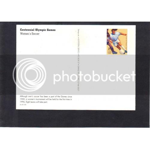Postcard UX247 20c Soccer Mint CV1477