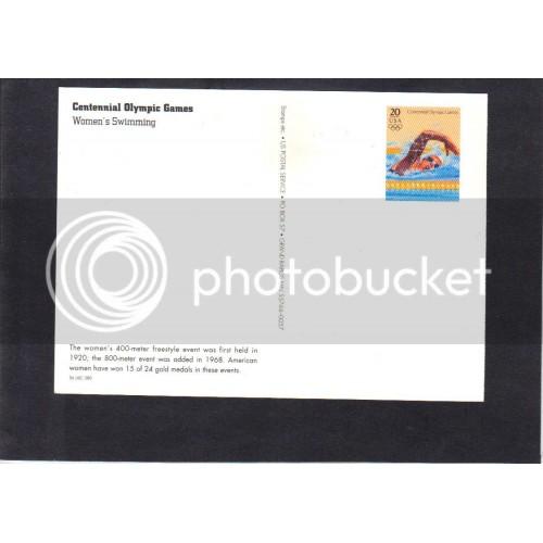 Postcard UX253 20c Swimming Mint CV1485