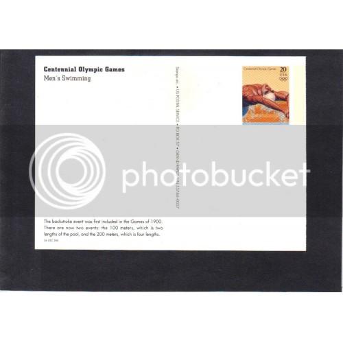 Postcard UX260 20c Swimming Mint CV1492