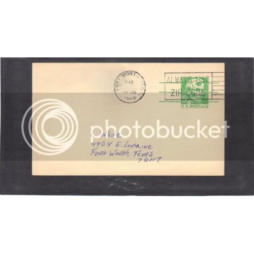 Postcard UX55 5c Lincoln Used PreCnx CV3593