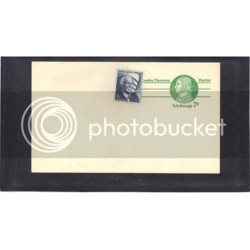 Postcard UX68 7c Charles Thomson 1280 2c Wright Mint PreCnx CV3594