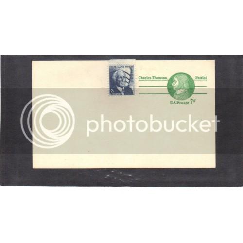 Postcard UX68 7c Charles Thomson 1280 2c Wright Mint PreCnx CV3595
