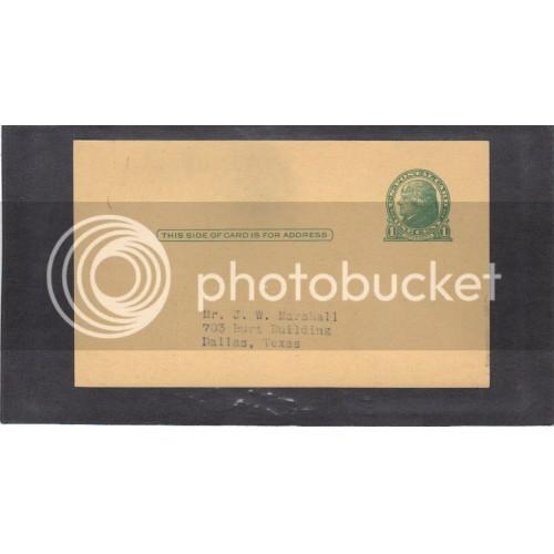 Postcard UX27 1c Jefferson Mint (Typed Address) CV3671