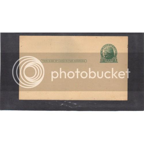 Postcard UX27 1c Jefferson Mint CV3832