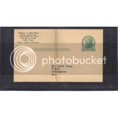 Postcard UX27 1c Jefferson Mint CV3837