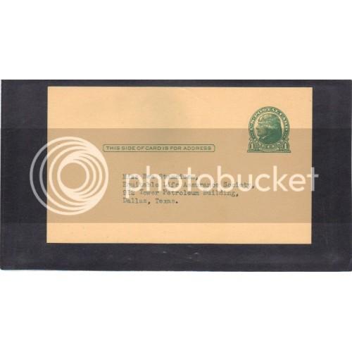 Postcard UX27 1c Jefferson Mint CV3879