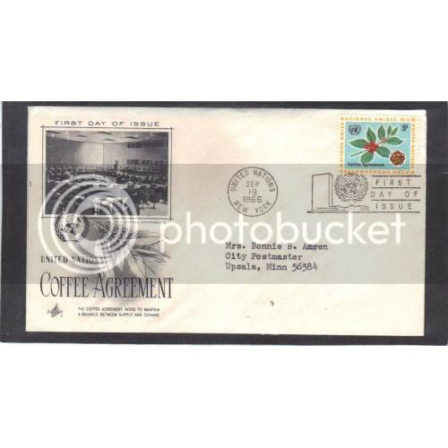Art Craft 158 5c Coffee Agreement FDC (Cachet-Typed Address) CV41305