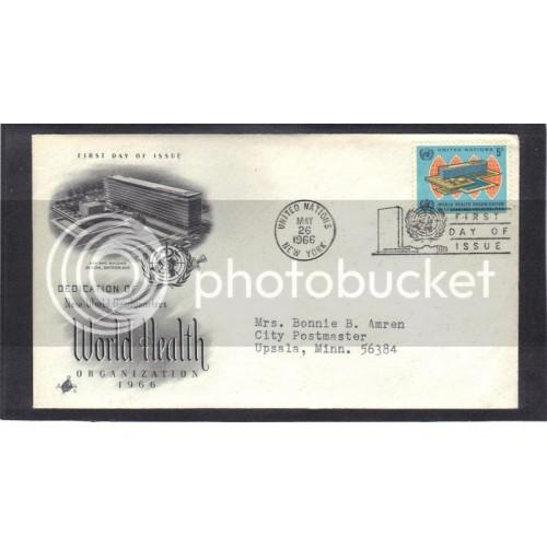 Art Craft 156 5c World Health  FDC (Cachet-Typed Address) CV41312