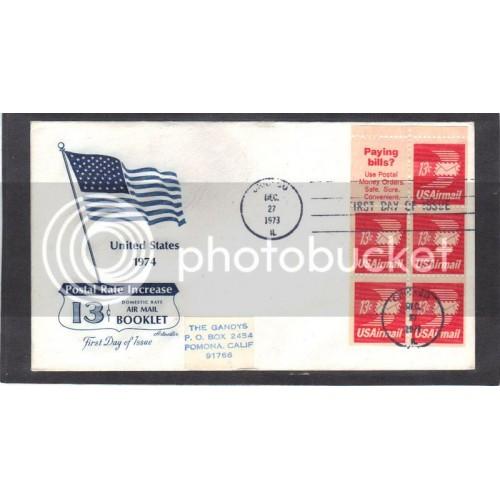 Artmaster C79a 13c Letter Pane(5/Slogan 8) FDC (Cachet-Label Address) CV41315