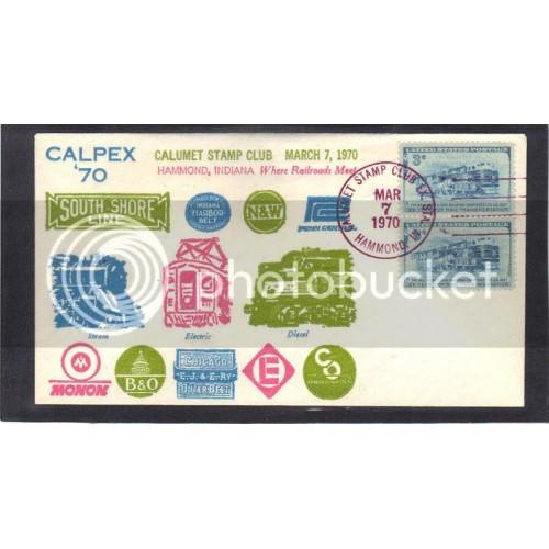 Event CALPEX 70' 1006 3c B&O Railroad (Cachet-U/A) CV41361
