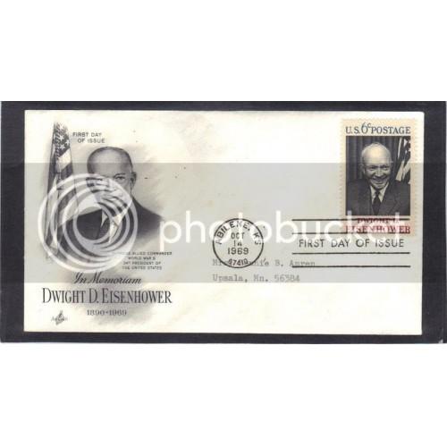 Art Craft 1383 6c Eisenhower FDC (Cachet-Typed Address) CV41445