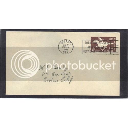 Cover U543 4c Pony Express (No Cachet-Inked Address) CV41592