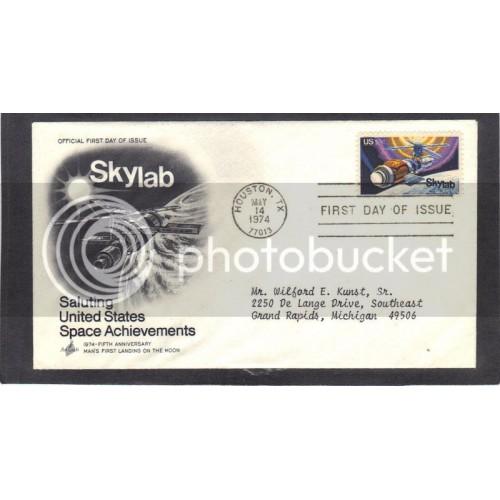 Art Craft 1529 10c Skylab FDC (Cachet-Typed Address) CV41683