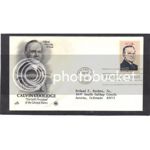 Art Craft 2219b 22c Coolidge FDC (Cachet-Typed Address) CV41903