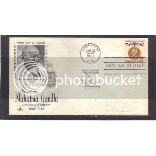 Art Craft 1175 8c Gandhi FDC (Cachet-Label Address) CV41923