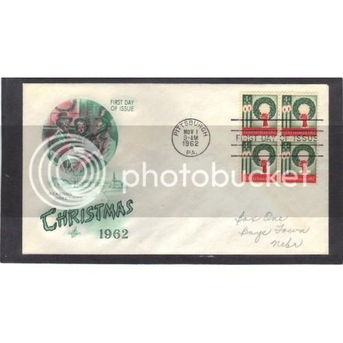 Art Craft 1205 4c Christmas Blk/4 FDC (Cachet-Pencilled Address) CV41978