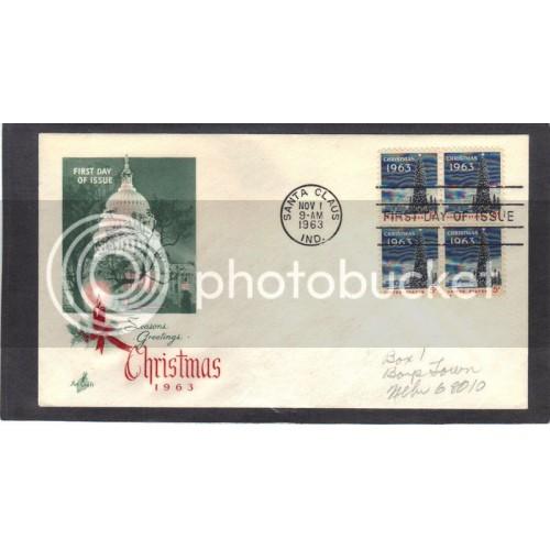 Art Craft 1240 5c Christmas Blk/4 FDC (Cachet-Pencilled Address) CV42026