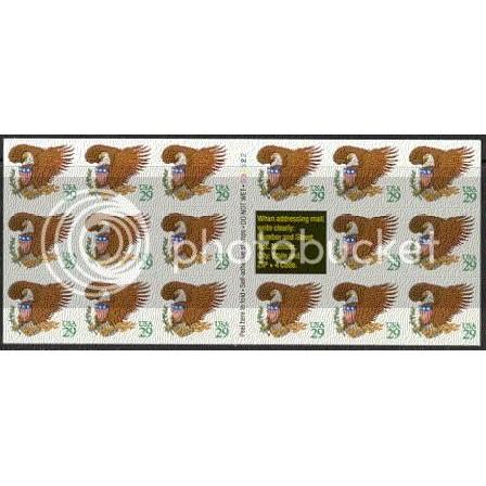 2596a Very Fine MNH Pane/17 P# D32322 L0694