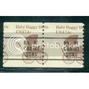 1902a Misperfed MNH Dry Gum Pair Car Route W0129