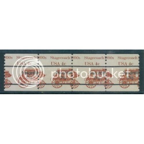 1898Ab Misperfed MNH Dry Gum Strip of 4 W511